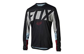 FOX INDICATOR DRAFTER LONG SLEEVE JERSEY BLACK