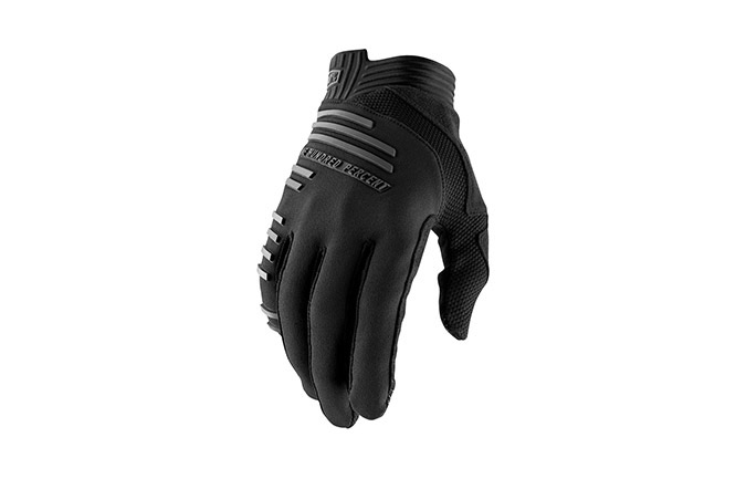 100% R-CORE BLACK GLOVES