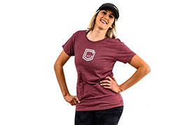 T-SHIRT COMMENCAL DONNA BURGUNDY