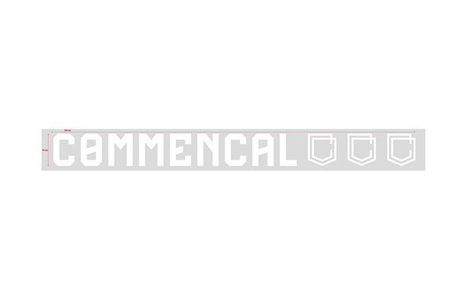 STICKER COMMENCAL WHITE PICCOLO ADESIVO INTERNO
