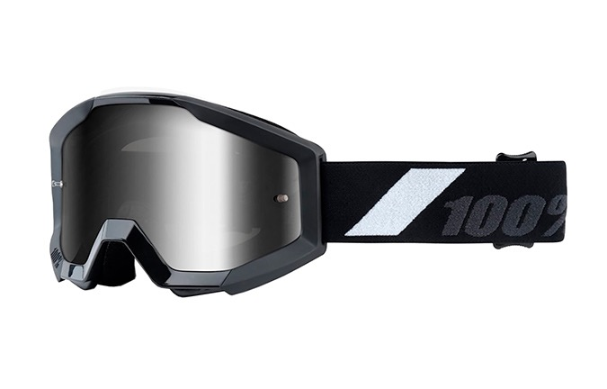100% STRATA JUNIOR GOLIATH GOGGLES - SILVER MIRROR LENS