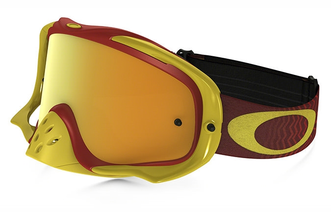 MASCHERA OAKLEY CROWBAR MX SCHOCKWAVE RED / YELLOW 24K IRIDIUM