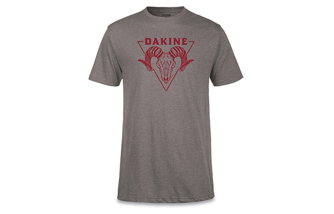 MAGLIA A MANICHE CORTE DAKINE TECH-TEE BADLANDS HEATHER GRAPHITE
