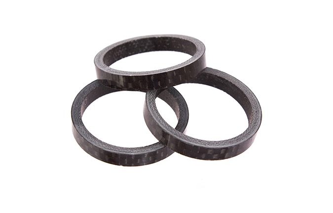 SPACERS SERIE STERZO CARBON 5MM x3 BLACK PER META/DH