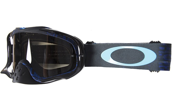 MASCHERA OAKLEY CROWBAR DISTRESS TAGLINE STEALTH BLUE/DARK GREY