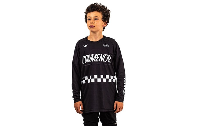 KIDS LONG SLEEVE FORBIKE/COMMENCAL JERSEY BLACK