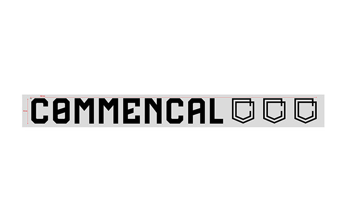 STICKER COMMENCAL BLACK PICCOLO ADESIVO INTERNO