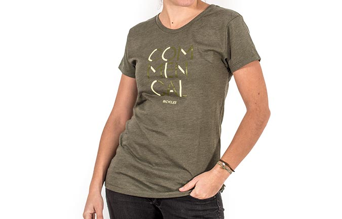 T-SHIRT DONNA 3 RIGHE OLIVE 2018