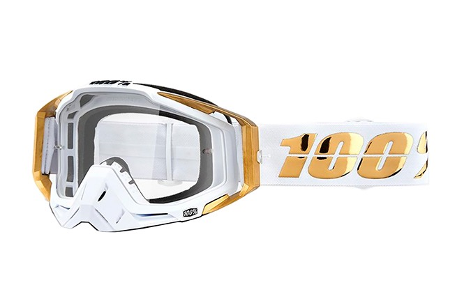 100% RACECRAFT LTD GOGGLES - CLEAR LENS 2019