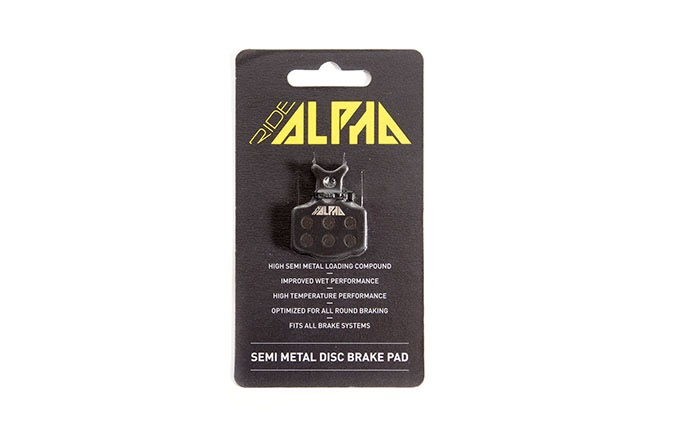 RIDE ALPHA SEMI-METAL BRAKE PADS FOR TEKTROHDC330/AURIGA