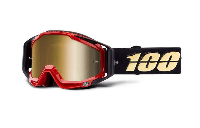 100% RACECRAFT HOT ROD GOGGLE - TRUE GOLD MIRROR LENS 2019