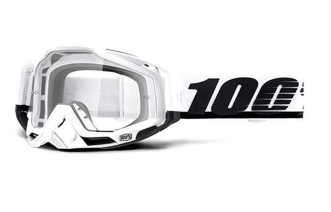 MASCHERA 100% RACECRAFT STUU - CLEAR LENS 2020