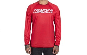 MAGLIA A MANICA LUNGHE COMMENCAL RED