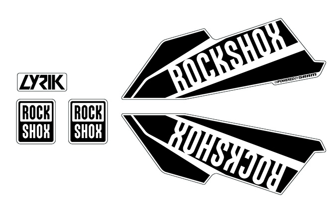 ROCKSHOX LYRIK STICKER KIT SHINY BLACK