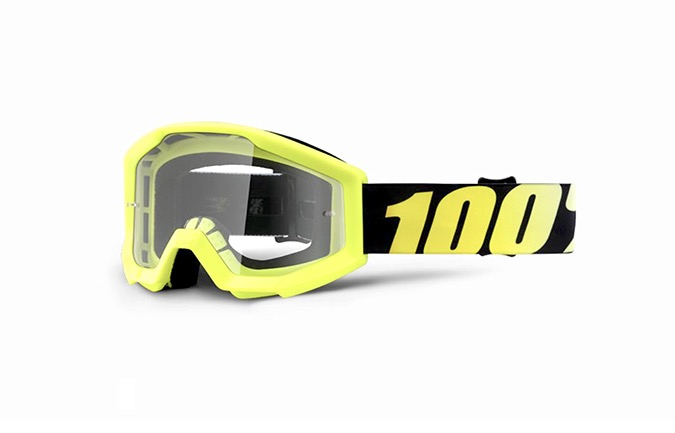 MASCHERA 100% STRATA JUNIOR NEON YELLOW - CLEAR LENS