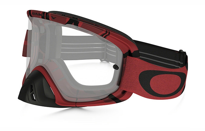 MASCHERA OAKLEY O FRAME 2.0 MX INTIMIDATOR BLOOD RED LENTI CHIARE