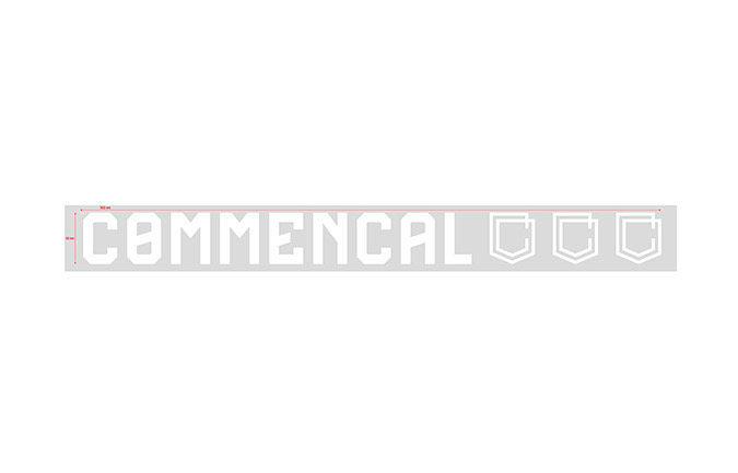 STICKER COMMENCAL WHITE PICCOLO ADESIVO ESTERNO