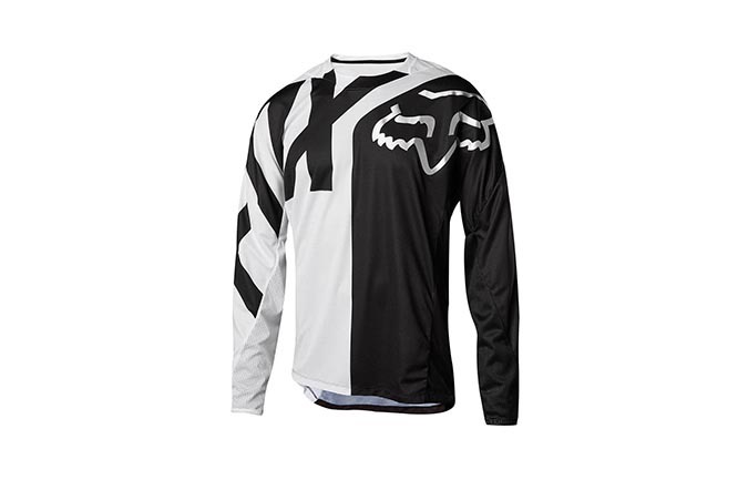 MAGLIA A MANICHE LUNGHE FOX DEMO KID WHITE/BLACK 2018