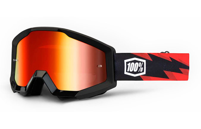100% STRATA GOGGLE - SLASH - MIRROR RED LENS 2020