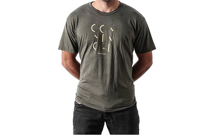 T-SHIRT 3 RIGHE OLIVE