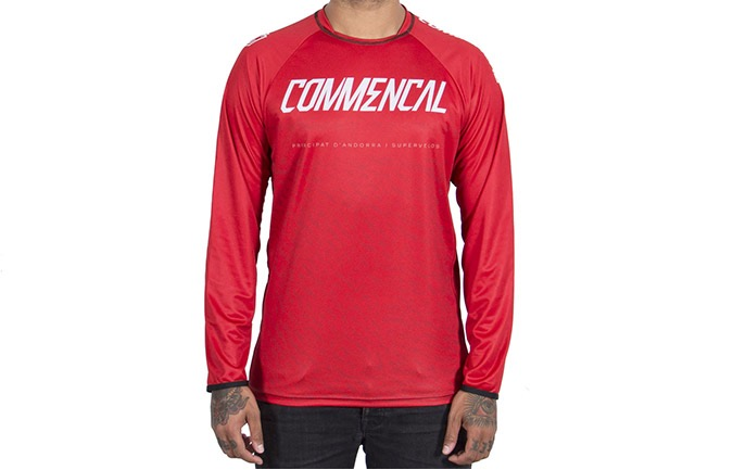 MAGLIA A MANICA LUNGHE COMMENCAL RED 2019