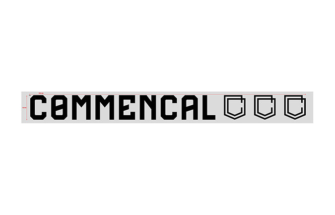 STICKER COMMENCAL BLACK PICCOLO ADESIVO ESTERNO