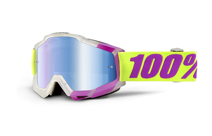 100% GOGGLE ACCURI TOOTALOO MIRROR BLUE LENS