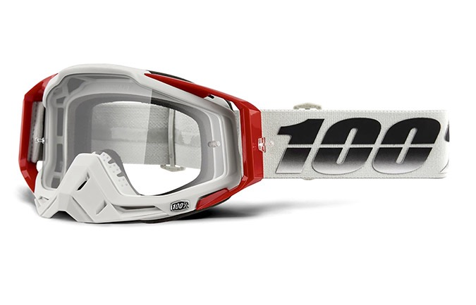 MASCHERA 100% RACECRAFT SUEZ - CLEAR LENS 2020